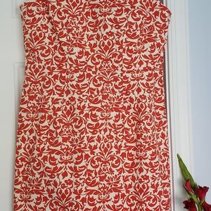 Vibrant Red and white BR dress